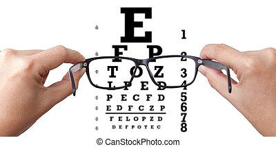 prueba, ojo