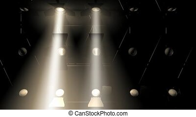 Concert lights flood animation