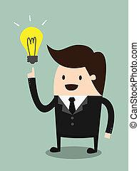 ideas - Businessman get the idea