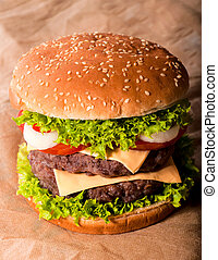 Double cheeseburger - Big and tasty double cheeseburger
