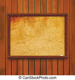 Wooden background. Vector eps 10