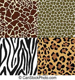 Animal Skin Patterns - Seamless Animal Skin Pattern set:...