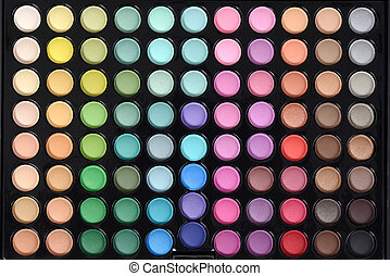 top view eyeshadow palette background