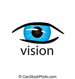 graphic vector logo eye close up