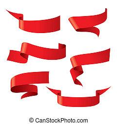 red ribbon patterns