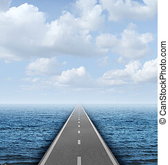 Across The Ocean - Across the ocean business concept with a...