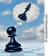 Dreaming Of Success - Dreaming of success with a chess game...