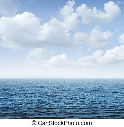 Ocean And Sky - Ocean and sky background as a tranquil scene...