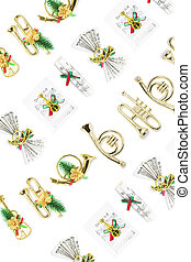Christmas Ornaments - Background of Christmas Miniature...
