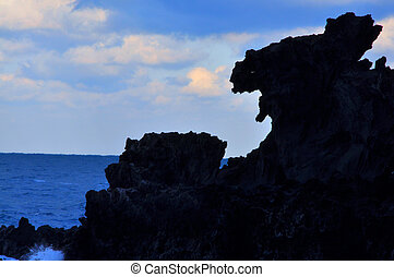 Dragon Head Rock, Jeju, Korea - Yongduam Rock (Dragon Head...