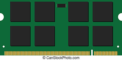 memory module vector illustration