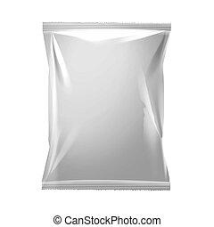 white vacuum packaging