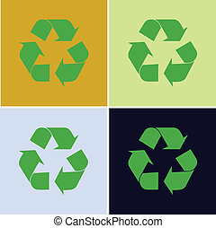 recycling symbol vector illustration