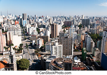City of sao paulo - Aerial view of the city of sao paulo...