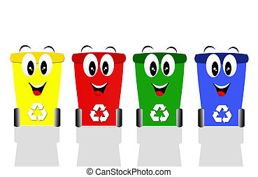 Recycle bins for ecology