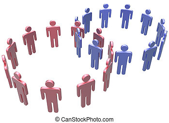 People join merge social two circles - People join as social...