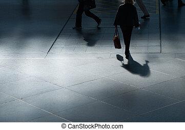 Walking at airport