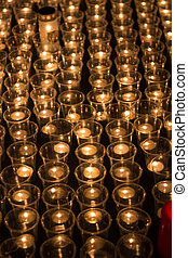 Prayer Candles - Prayer candles in a catholic church.