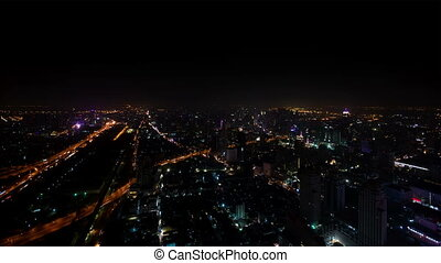 City at night - view from the top - 1920x1080 hidef, hdv -...