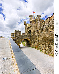 Castle - Templar castle Ponferrada,El Bierzo,Spain.