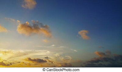 Time lapse of clouds - 1920x1080 video - Time lapse clip of...
