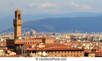 timelapse of florence skyline, italy