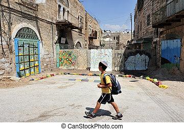 Hebron - Israel - HEBRON, ISRAEL - SEP 08:Jewish Israeli...