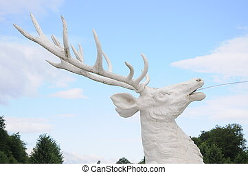 White Deer Head - This beautiful sculpture is one of the...