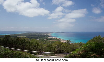 timelapse looking out over the island of formentera, spain