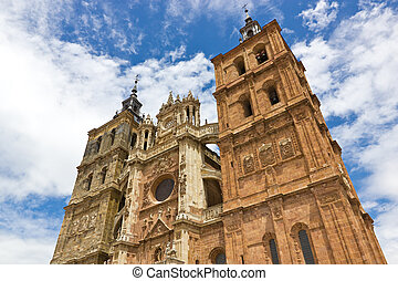 Astorga cathedral - Facade of the Astorga cathedral.
