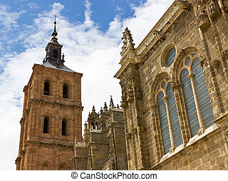 Astorga cathedral - Bell tower of the Astorga cathedral.