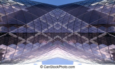 abstract shot of the swiss RE (gherkin) building in london