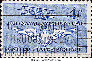 Stamp United States - UNITED STATES - CIRCA 1961: A stamp...