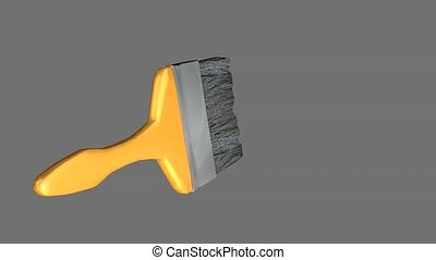 Paint brush - Green screen paint brush animation
