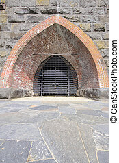 Historic Iron Furnace Gate - Historic Iron Furnace with...