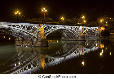 Triana Bridge - Seville Triana Bridge close up at...