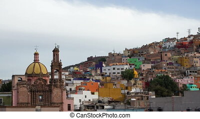 the beautiful skyline of the city of guanajuato, mexico this...
