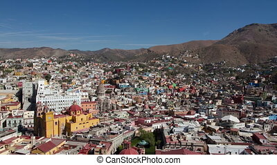 the beautiful skyline of the city of guanajuato, mexico. this city is interesting as most of the roads are underground in tunnels.