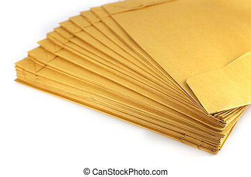 Brown envelope - Brown envelope isolated on white background...