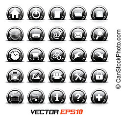 icons set BW - Vector for business concepts with icons can...