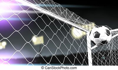Goal score - Soccer goal scored