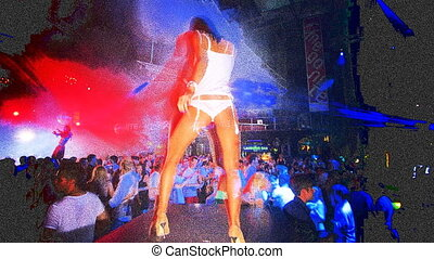 dancers at a club in ibiza