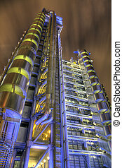 View of the Lloyds Building at One Lime Street in the City...