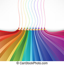 Abstract background with art pencils Vector illustration