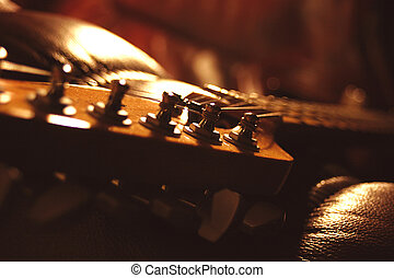 Tuning Posts - A guitar headstock featuring the tuning posts...