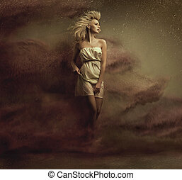 Fine art photo of a alluring blonde beauty - Fine art photo...