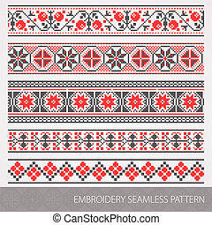 Embroidery ornament - Collection of embroidery ornament...