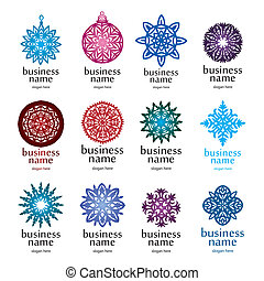 Christmas collection of logos