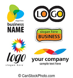 collection of abstract colored logos