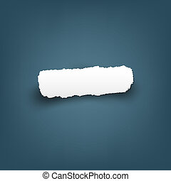 Scrap Of Fragmentary Paper, Vector Illustration